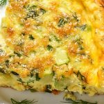 Crust-less Corn and Cheddar Quiche