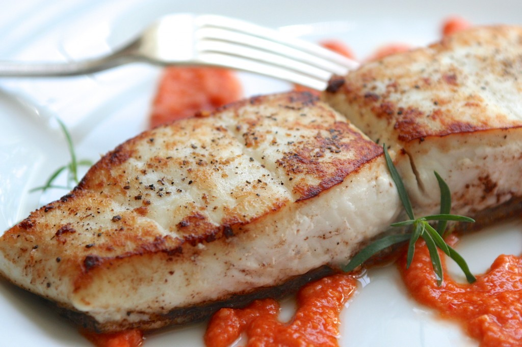 Halibut with Romesco Sauce