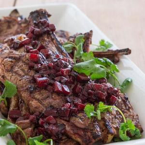 Five Spice Lamb With Plum Chutney
