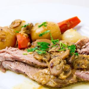 Mushroom And Onion Pot Roast