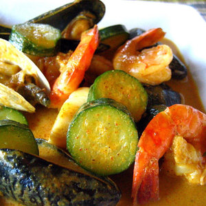 Seafood Curry With Zucchini Recipe