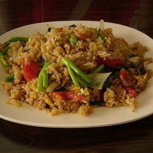 Thai seafood and pork fried rice Recipe