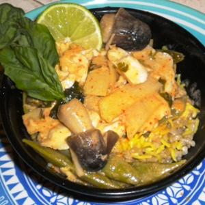 Fish with red curry