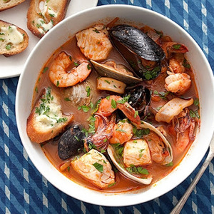 Cioppino Seafood Stew with Gremolata Toasts recipes