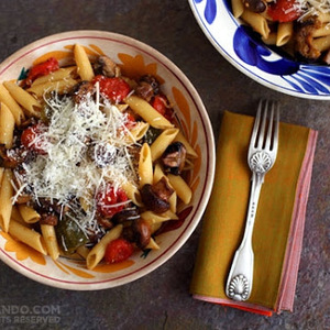 PENNE WITH ROASTED VEGETABLES recipes