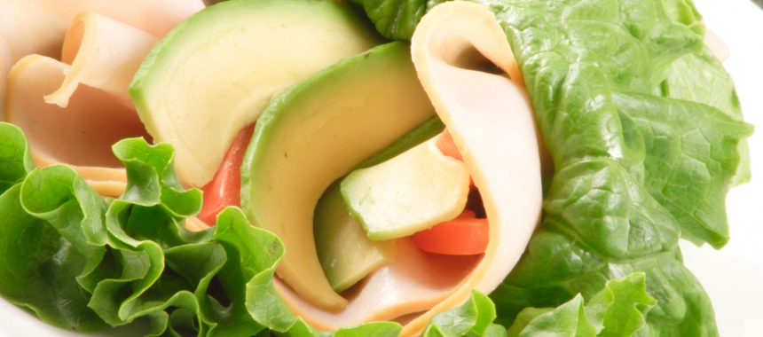 Turkey Avocado Lettuce Wrap