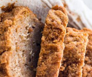 Cinnamon Crunch Whole Wheat Banana Bread